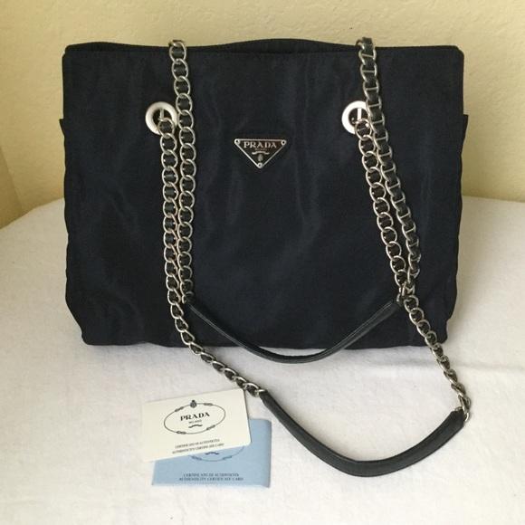 e0bac6e323ba Prada Bags | Sale Tessuto Acciaio Gesso | Poshmark